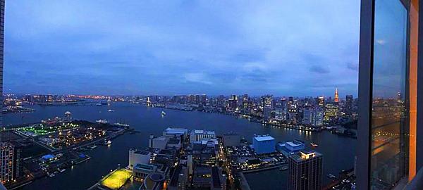 东京湾的夜景