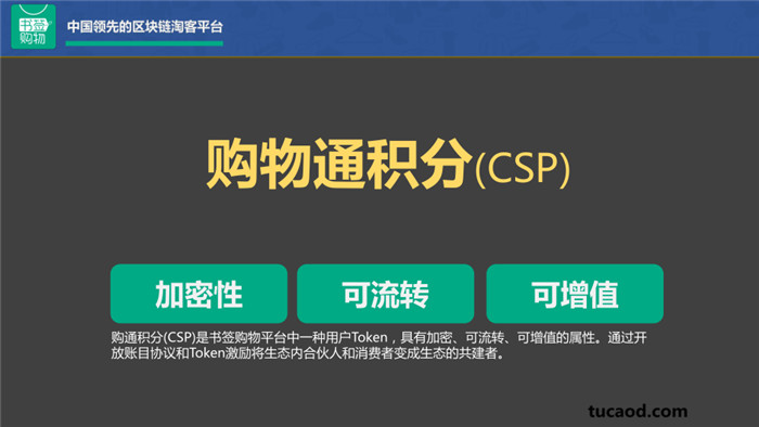 购物通积分CSP的具有加密性,可流转,可增值。