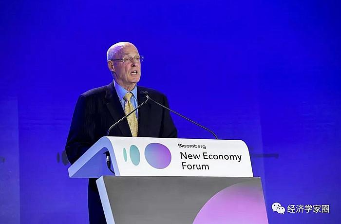 保尔森在彭博创新经济论坛发表讲话_中美贸易战_李光耀_朱镕基