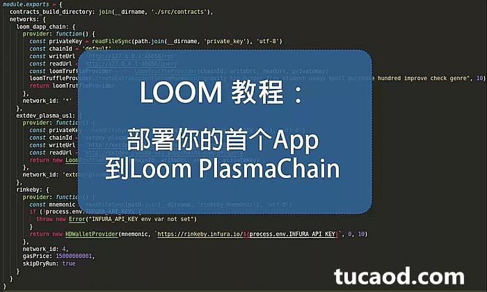 Loom PlasmaChain部署DAPP_安装 Loom、设置环境和生成密钥