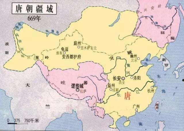 唐朝疆域地图