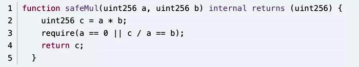 SafeMath源码乘法