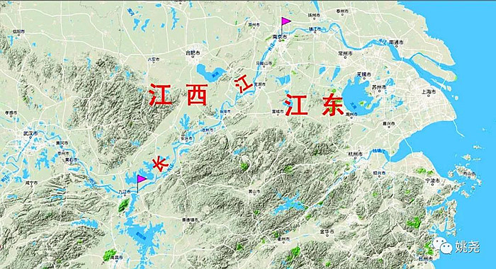"""中国古人讲究坐北朝南。从坐北朝南的眼光来看,左边就成了东,右边就成了西。因此,江东又称作""""江左""""。譬如上海,就属于江左。"""