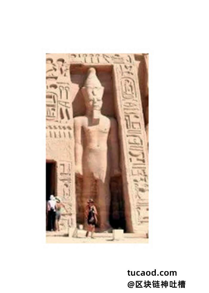 自然站立的埃及瑜伽