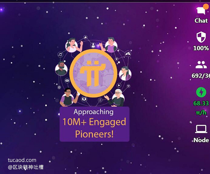pi官方宣布1000万矿工即将到来!Approaching 10M+Engaged Pioneers